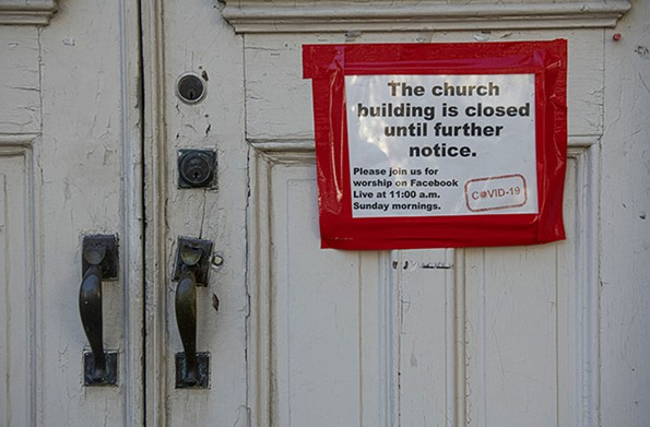 Centenary United Methodist Church at 411 E. Grace St. was one of the places of worship forced to close – along with businesses, schools, public facilities and other venues – because of the pandemic. - SCOTT ELMQUIST/FILE