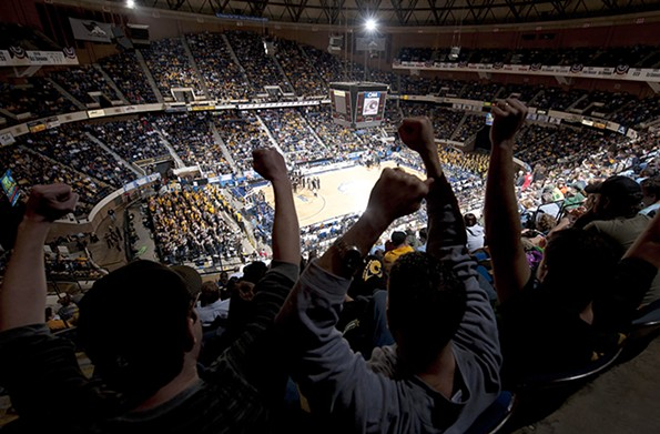 A sold-out crowd fills the Coliseum in March 2011 as Old Dominion tops Virginia Commonwealth University in the Colonial Athletic Association men's basketball tournament. - VCU/SCOTT BROWN PHOTOGRAPHY