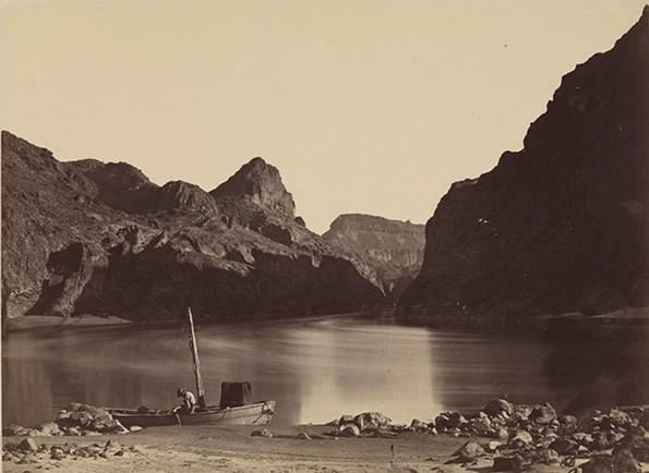 """Black Canyon, Colorado River, from Camp 8, Looking Above,"" 1871, Timothy O'Sullivan (American, born Ireland, 1840–1882), albumen print. - VMFA/JOHN BARTON PAYNE FUND"
