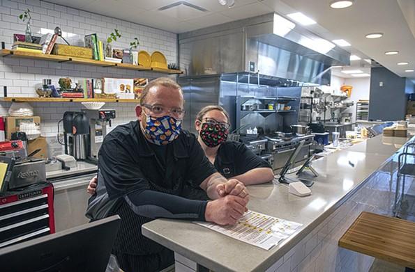 Jon Martin and Liz Clifford run Fat Kid Sandwiches out of Hatch Kitchen. - SCOTT ELMQUIST