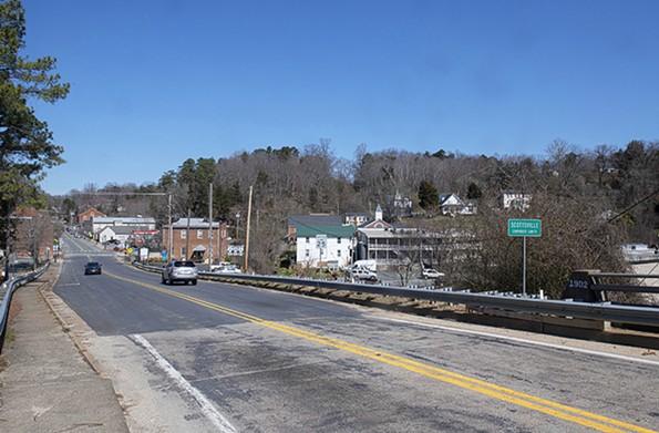 The James River Bridge links downtown with Buckingham County. - SCOTT ELMQUIST