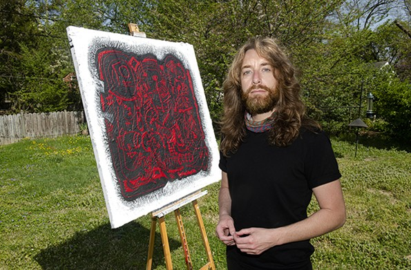Bassist Todd Herrington is normally out on the road, but during the pandemic he started the Paint Sesh, a video podcast in his backyard with guests. - SCOTT ELMQUIST
