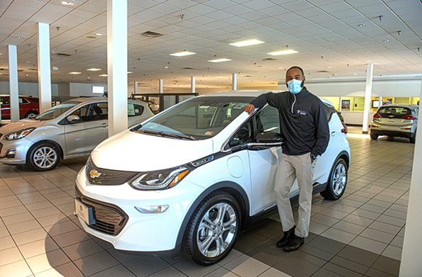 Lorezno Rose of Parks Chevrolet on West Broad Street says that many shoppers for the Chevrolet Bolt are in their 20s and 30s. - SCOTT ELMQUIST
