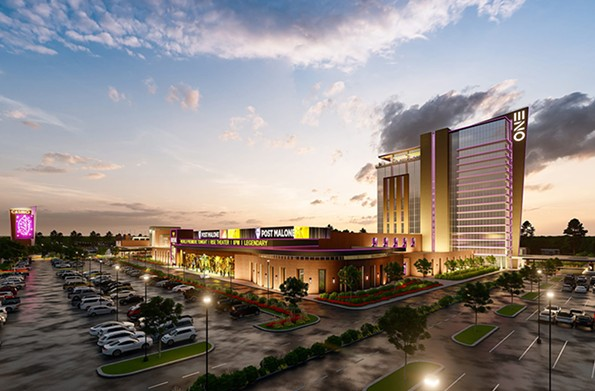A rendering of One Casino, a 57,000-square-foot event space proposed for an industrial park off Commerce Road in South Side on land owned by Philip Morris USA. - URBAN ONE, INC.