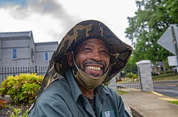 Sherwood Jasper was connected through Blessing Warriors to stable landscaping work with Virginia Union University. - SCOTT ELMQUIST