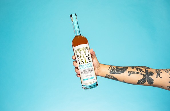 Belle Isle Moonshine's Pineapple Coconut infusion. - JOEY WHARTON