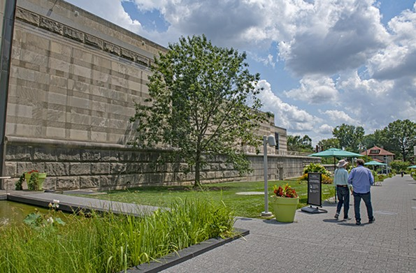 """The new wing will be built on the green space to the southwest of current building. Last week, New York Times art critic Holland Cotter raved about the VMFA's """"The Dirty South"""" exhibit. - SCOTT ELMQUIST"""