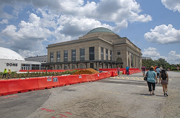 The science museum's surface parking lot will soon become the Green, a green space and outdoor classroom. - SCOTT ELMQUIST