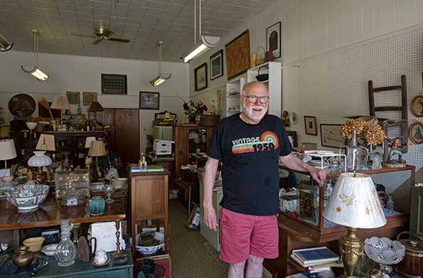 "Owen ""Bret"" Peaden of Keysville at his antiques shop, aptly named Bretcetera. - SCOTT ELMQUIST"