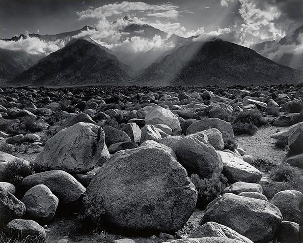 """Mount Williamson, Sierra Nevada from Manzanar, California,"" 1944, by Ansel Adams."