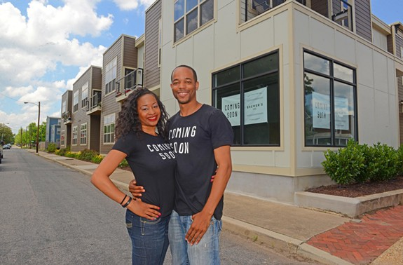 Michelle Cosely and A.J. Brewer plan to open Brewer's Café in the 12th and Bainbridge Apartments, developed by Ben Adamson. - SCOTT ELMQUIST