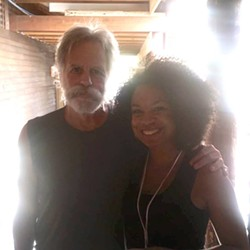 Grateful Dead founding member Bob Weir and Richmond's Samantha Reed from the Peach Fest in Pa. on Sunday.
