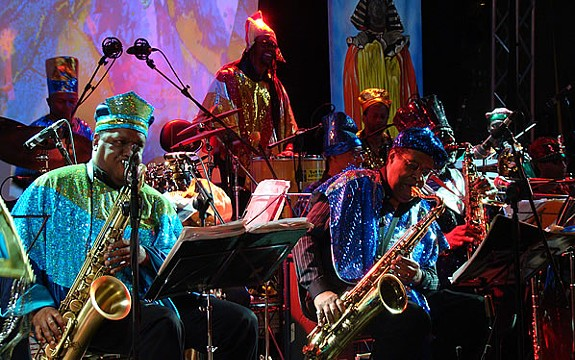 The current touring iteration of Sun Ra Arkestra, minus the man himself of course, will be performing at this year's Richmond Folk Fest on the weekend of Oct. 9 through 11.