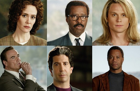 "The cast of ""The People Vs. OJ Simpson"" airing Tuesdays at 10 p.m. on FX."