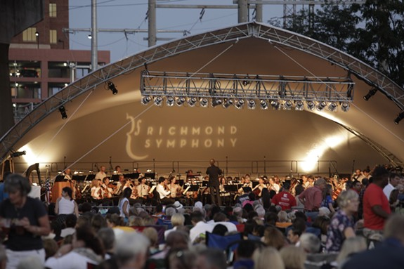 Richmond Symphony performing under the Big Tent.