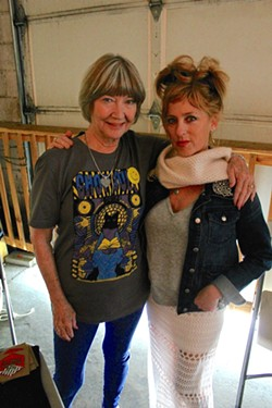 """Actress Charlotte Stewart (""""Eraserhead"""") and fellow """"Twin Peaks""""-cast member Kimmy Robertson at Hardywood Park Craft Brewery during last year's inaugural Great Southern event. - BRENT BALDWIN"""