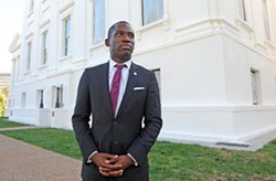"Kevar Stoney enters the Richmond mayoral race today, saying in a statement: ""We need a leader with new ideas, a new approach, and new energy -- for a new Richmond."" - SCOTT ELMQUIST"