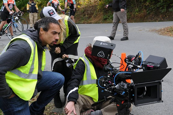 """Richmond native Jai Jamison behind the camera during filming of """"TRI."""" - RED ZEPPELIN PRODUCTIONS"""