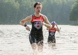 Kelly Spitko plays Christy, a seasoned triathlete making her comeback -- with the Luray triathlon as a backdrop. - RED ZEPPELIN PRODUCTIONS