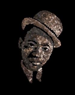 A portrait of legendary Richmonder Mr. Bojangles made with pennies by artist Noah Scalin. - NOAH SCALIN