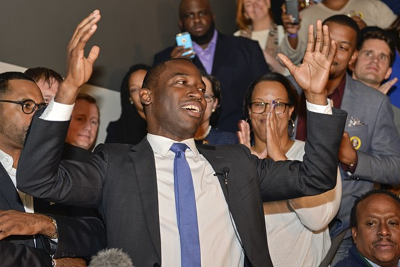 "During his election-night party at Wong Gonzalez, Levar Stoney said of his lead, ""Folks voted for change."" The Richmond registrar's office finished counting absentee ballots Wednesday around 7:45 p.m., cementing Stoney's outright win, and ending Jack Berry's chances for a runoff. - ASH DANIEL"