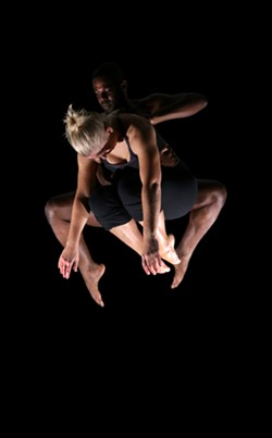 """Jordan Glunt and Erick Hooten from Starr Foster's transformative production, """"Levitate."""""""