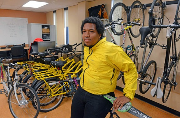 Caleb Johnson has logged hundreds of miles on Richmond's roads as a bicycle courier for Quickness RVA. Johnson suffered a broken elbow after a hit-and-run last year. - SCOTT ELMQUIST