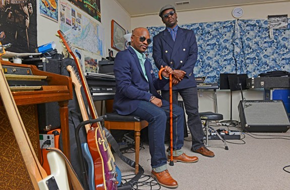 Two talented guys: drummer and vocalist Kelli Strawbridge, left, and drummer, keyboardist and bassist Devonne Harris work together in the funky, retro-soul project Kings. Members have performed or recorded with Kendrick Lamar, Nicholas Payton, Snarky Puppy and Dirty Dozen Brass. - SCOTT ELMQUIST