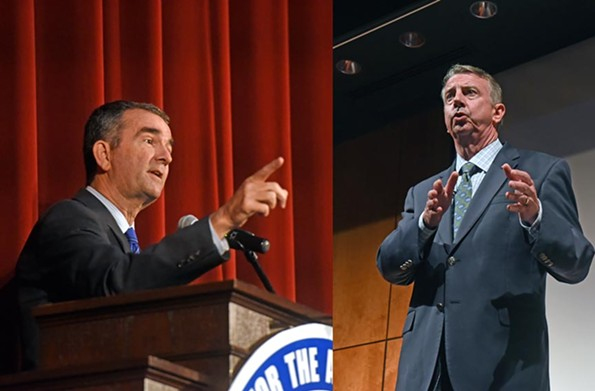 Recent polls have shown Lt. Gov. Ralph Northam, at left, and Ed Gillespie within 5 percent of each other in the Virginia gubernatorial race, within the statistical margin of error. - SCOTT ELMQUIST