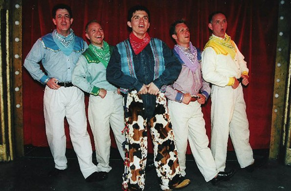 "The cast of ""When Pigs Fly,"" a wacky musical revue by Howard Crabtree that was a favorite. - RICHMOND TRIANGLE PLAYERS"