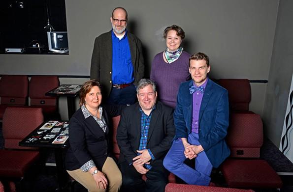 From left, Katie Fessler, Ross Aitken, Phil Crosby, Julie Flenner and Lucian Restivo, a recent winner of Style's Top 40 under 40 issue. - SCOTT ELMQUIST