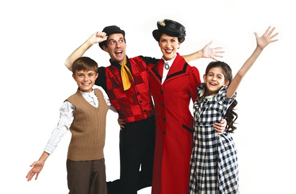 "The cast of Virginia Rep's ""Mary Poppins"" includes Jack Hensley, Morgan Reynolds, Stacey Cabaj and Anya Rothman. - JAY PAUL"