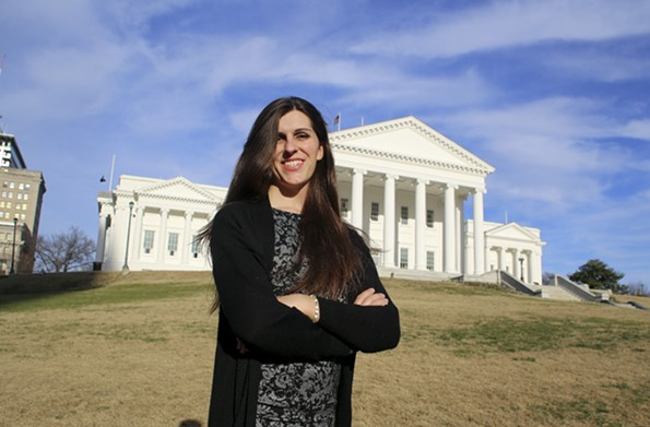 Danica Roem, D-Prince William, is working to improve transparency by addressing text messages sent between officials during public meetings. - BRAD KUTNER