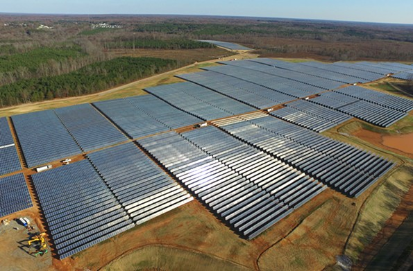 Dominion's Scott project in Powhatan County features a field of solar panel arrays. - DOMINION ENERGY