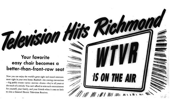 Ad excerpt for General Electric television sets, 1948.