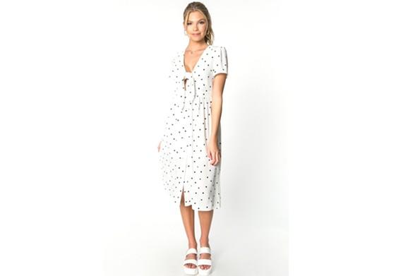 This polka-dot midi dress  from Mod & Soul costs $82. - MOD & SOUL
