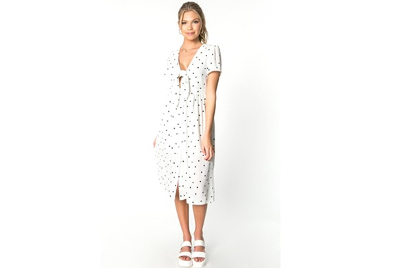 This polka-dot midi dress  from Mod & Soul costs $82. - MOD & SOUL