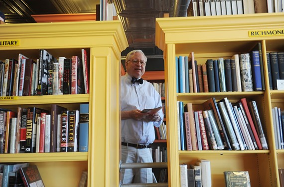 Owner Nick Cooke at Black Swan Books at 2601 W. Main Street. The store specializes in unusual and rare books.