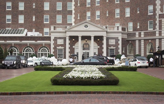 Balloons in front of the Cavalier Hotel on Saturday, July 21 at the wedding of Pusha T to Virginia Williams.
