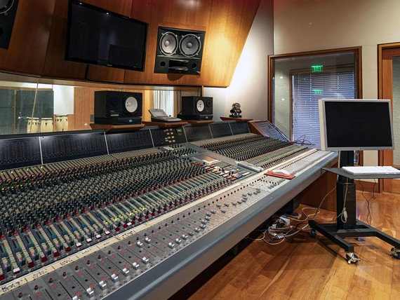 The 72-channel Neve VR Series recording console.