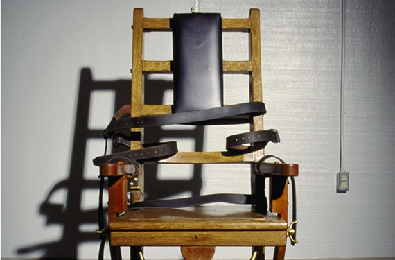 An undated photo of the electric chair at Greensville Correctional Center.