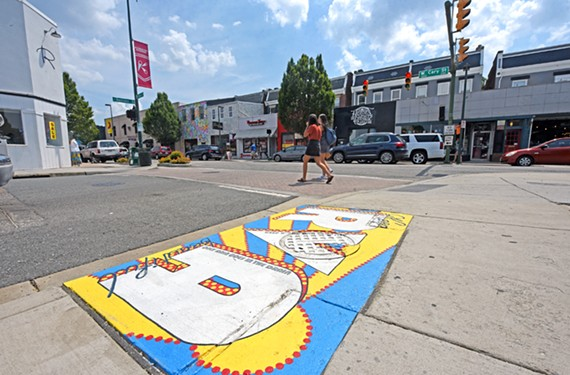 A decorated water drain in Carytown hopes to bring awareness to keeping the James River clean.