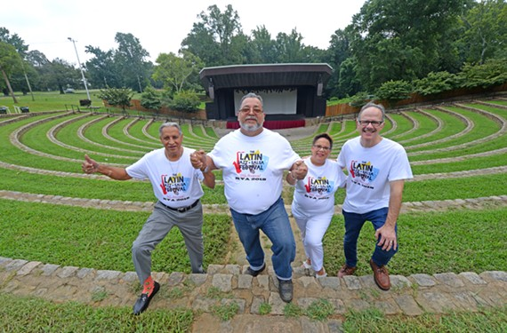 "Luis ""Sweet Lou"" Hidalgo, Miguelito ""El Guiro"" Lebron, Gloria ""La Gigi"" Torrens-Billings and Robert ""Master G."" Billings are helping to bring the 11th Latin Jazz and Salsa Festival to Dogwood Dell on Saturday, Aug. 25."