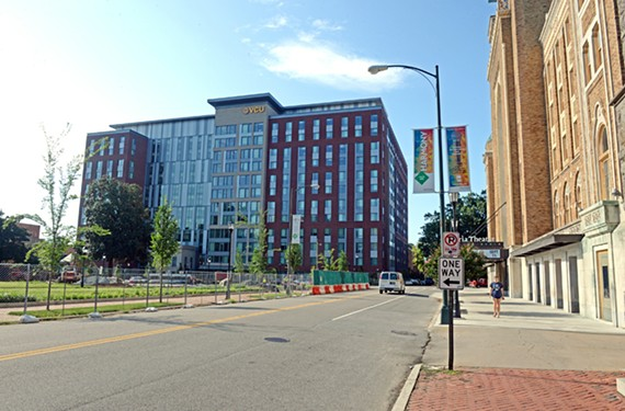 The expanded Gladding Residence Center at Virginia Commonwealth University,