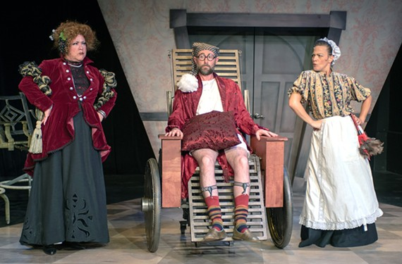 "Firehouse Theater's ""Invalid"" with Kirk Morton, Andrew Firda and Donna Marie Miller, provides a modern spin on Molière's final play."