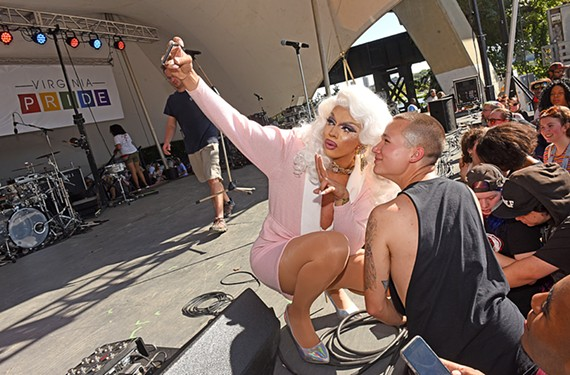 This selfie was shot at last year's PrideFest party along the stage at Brown's Island. This year about 30,000 people are expected to attend Sept. 22.