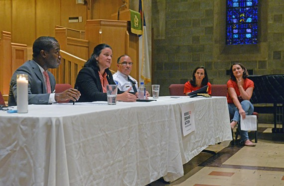 At a recent meeting held by Moms Demand Action, a panel of public officials discussed gun control and a gridlocked General Assembly.