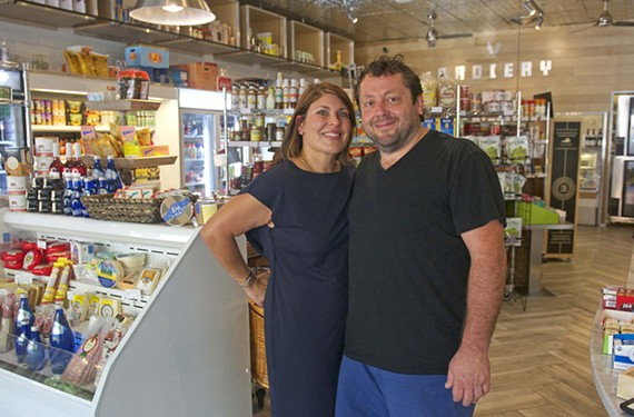 Katrina and Johnny Giavos own Stella's Grocery, the beloved market with an extensive prepared food selection.
