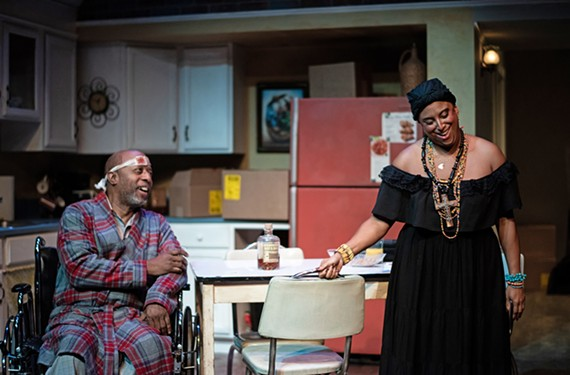 "David Emerson Toney delivers a strong lead role as Pops and Maria Hendricks' Church Lady ""gloriously bends the spiritual and the sexual"" in ""Between Riverside and Crazy."""