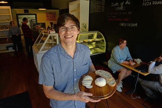 UnMoo founder Josh Kadrich uses traditional cheesemaking methods to create cheeses like the cashew-based Notz.